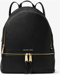 Michael Kors - Rhea Large Leather Backpack - Lyst