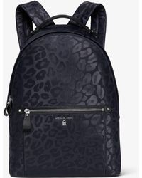 Michael Kors - Kelsey Large Leopard Nylon Backpack - Lyst