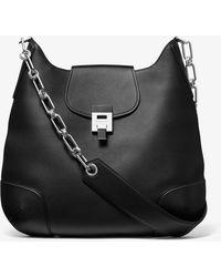 Michael Kors - Bancroft Oversized Calf Leather Shoulder Bag - Lyst