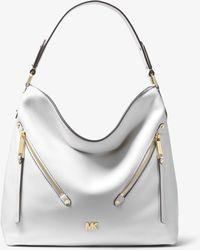 1f8d1a93ae50 MICHAEL Michael Kors - Evie Large Pebbled Leather Shoulder Bag - Lyst
