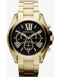 Michael Kors - Oversized Bradshaw Gold-tone Watch - Lyst