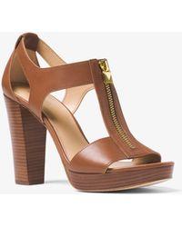 b311036c2046 MICHAEL Michael Kors - Berkley Leather Platform Sandal - Lyst