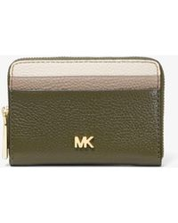 bf8a4ac15650 MICHAEL Michael Kors - Small Tri-color Pebbled Leather Wallet - Lyst