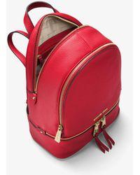 Michael Kors | Rhea Small Leather Backpack | Lyst