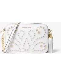 Michael Kors - Ginny Medium Embellished Leather Crossbody - Lyst