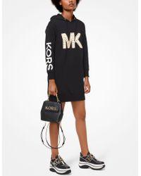 Michael Kors - Studded Logo Sweatshirt Dress - Lyst