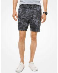 Michael Kors - Tropical Stretch-cotton Shorts - Lyst