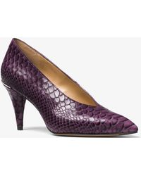 Michael Kors - Lizzy Embossed-leather Choked Pump - Lyst