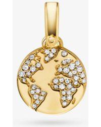 Michael Kors - Custom Kors 14k Gold-plated Sterling Silver Globe Charm - Lyst