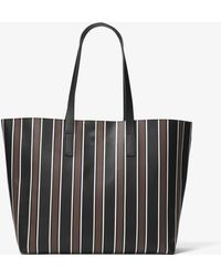 Michael Kors - Prescott Large Pyjama Striped Leather Tote - Lyst