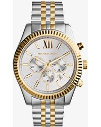 Michael Kors - Lexington Two-tone Watch - Lyst