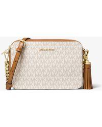 c6bb86ff36c5 Michael Kors Mitchell Medium Leather Crossbody Bag - Lyst