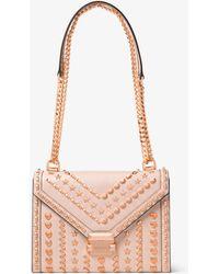 7f1682528c50 Michael Kors - Whitney Large Studded Leather Shoulder Bag - Lyst