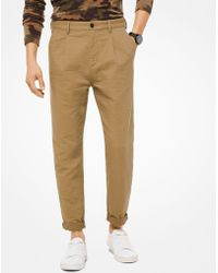 Michael Kors - Textured Stretch-cotton Pants - Lyst