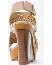 Michael Kors | Josephine Perforated Leather Wedge | Lyst