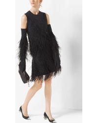 Michael Kors - Feather-embroidered Cashmere Gloves - Lyst