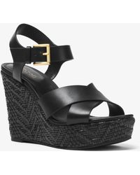 Michael Kors - Kady Leather Wedge - Lyst