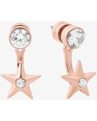 Michael Kors - Rose Gold-tone Star Earrings - Lyst