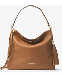 Michael Kors - Brooklyn Large Leather Shoulder Bag - Lyst