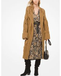 Michael Kors - Cable-knit Oversized Cardigan - Lyst