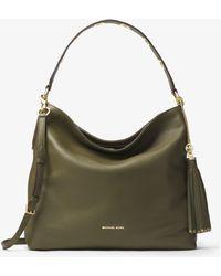 ea555a4c3a8b MICHAEL Michael Kors - Brooklyn Large Leather Shoulder Bag - Lyst