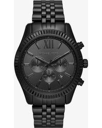 Michael Kors - Lexington Black-tone Watch - Lyst