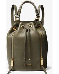 ddd3224f4fa5be MICHAEL Michael Kors - Viv Medium Pebbled Leather Bucket Backpack - Lyst