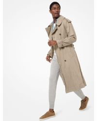 Michael Kors - Crushed Cotton Trench Coat - Lyst