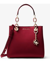Michael Kors - Cynthia Small Leather Satchel - Lyst