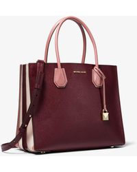 Michael Kors - Mercer Large Tri-color Pebbled Leather Accordion Tote - Lyst