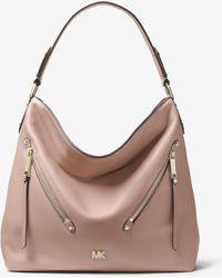 dad60d314544 Michael Kors - Evie Large Pebbled Leather Shoulder Bag - Lyst