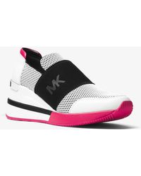 Michael Kors - Felix Scuba And Leather Sneaker - Lyst
