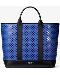 fc510206 MICHAEL Michael Kors - Georgica Mini Perforated Calf Leather Tote Bag - Lyst