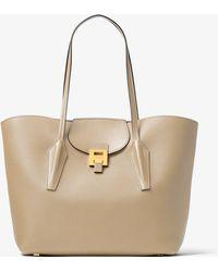 eb382272b4375d Michael Kors - Bancroft Pebbled Calf Leather Tote Bag - Lyst