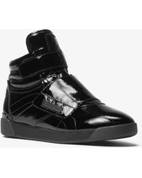 Michael Kors - Addie Patent Leather High-top Sneaker - Lyst