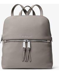 bd0f74af60a3 Michael Kors Viv Large Leather Backpack in Black - Lyst