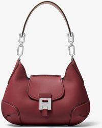 Michael Kors - Bancroft Medium Calf Leather Shoulder Bag - Lyst