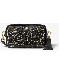 4268960b3197 Michael Kors - Small Rose Studded Leather Camera Bag - Lyst