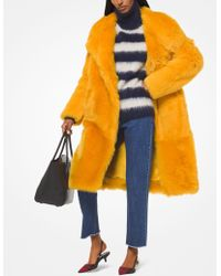 Michael Kors - Cappotto in shearling - Lyst