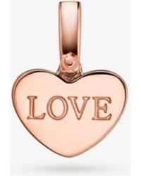 Michael Kors - 14k Rose Gold-plated Sterling Silver Heart Charm - Lyst