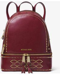 Michael Kors - Rhea Medium Studded Leather Backpack - Lyst