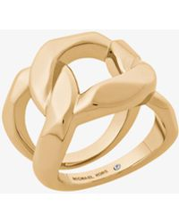Michael Kors - Gold-tone Chain-link Ring - Lyst