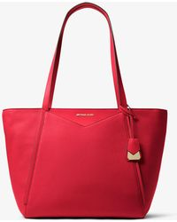 Michael Kors - Whitney Large Leather Tote - Lyst