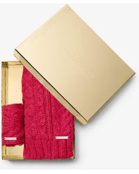 Michael Kors - Cable-knit Headband And Scarf Set - Lyst