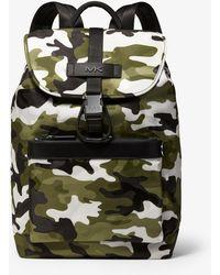 6f9a35f9dd29 Michael Kors - Kent Camouflage Jacquard Nylon Backpack - Lyst