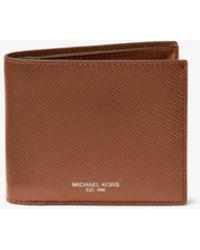 Michael Kors - Harrison Leather Id Billfold Wallet - Lyst