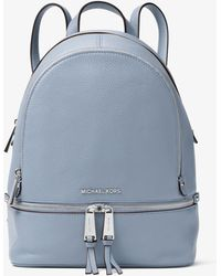Michael Kors - Rhea Medium Leather Backpack - Lyst