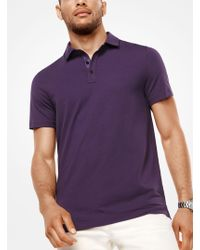 Michael Kors | Bryant Stretch-cotton Polo Shirt | Lyst