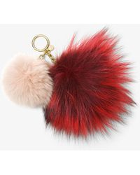Michael Kors - Twin Fur Key Chain - Lyst