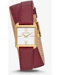 Michael Kors - Lake Gold-tone And Leather Wrap Watch - Lyst